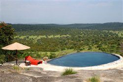 Mihingo Lodge: Pool-Bereich